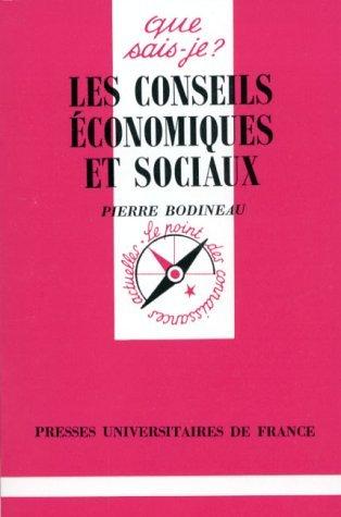 Les Conseils économiques et sociaux