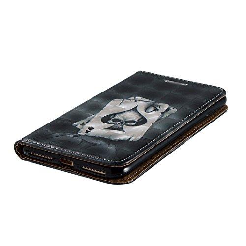 Etui Apple iPhone 7 Plus Case,Coque Cuir iPhone 7 Plus Housse Case Rosa Schleife® Folio Portefeuille Apple Case Cover Portable telephone Wallet Housse Flip Clapet PU Leather Pochette arriere Bumper Et 1-Poker