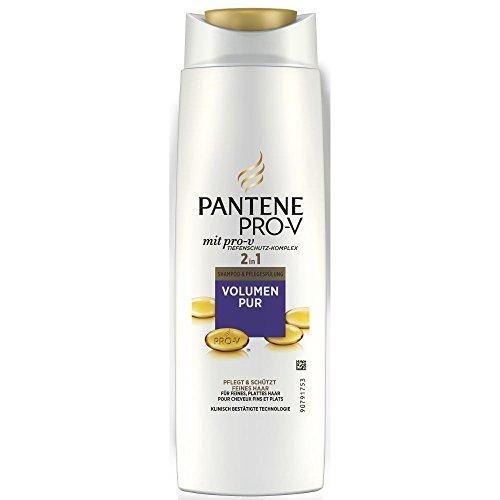 Pantene Pro-V 2 in 1 Shampoo und Pflegespülung Volumen Pur für feines, plattes Haar, 6er Pack (6 x 250 ml)