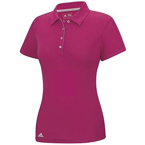 Adidas Golf Damen Heather Essentials Short Sleeve Polo Gr. Small, Bold Pink (Damen Golf Adidas Kurze)