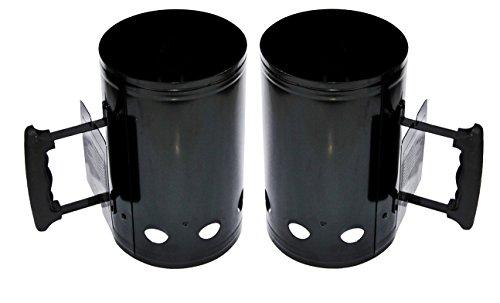2 x Anzündkamin XXL 27,5x17cm 1,2kg Grillkohleanzünder Schnellanzünder Grill