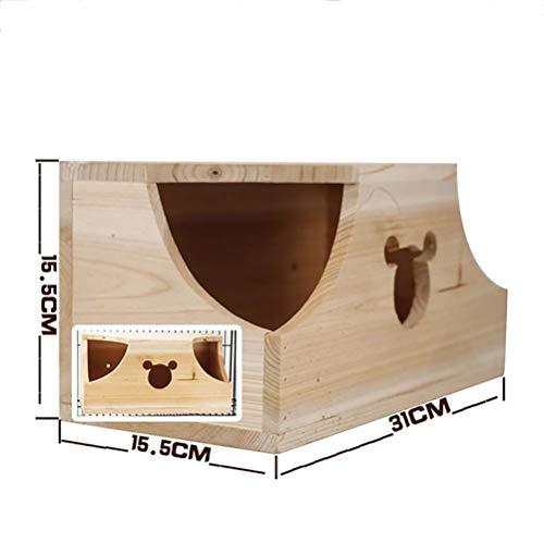 Tudio criceto in legno non tossico durevole in legno capanna in legno non tossico per criceto giocattoli criceto in legno naturale castello in legno, piccolo gioco per animali giocattolo da masticare,c