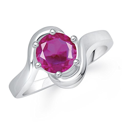 Meenaz Ruby Ring South Indian Traditional Silver Ring For Girls & Women In American Diamond Cz Fr245  available at amazon for Rs.176