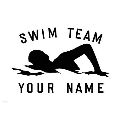 0be93bf0c300 Swim Sticker Logo Nome Swimmer Decal nuoto Poster Vinyl Wall Decals Adesivo  Wall board Decor Murale Swim Sticker 38x58cm