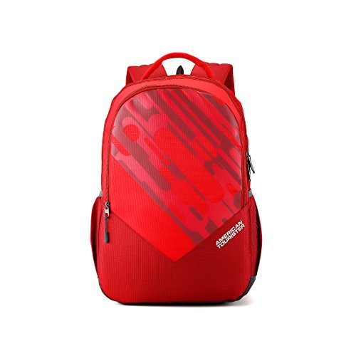 American Tourister 29 Ltrs Red Casual Backpack (AMT MIST SCH BAG01 RED)
