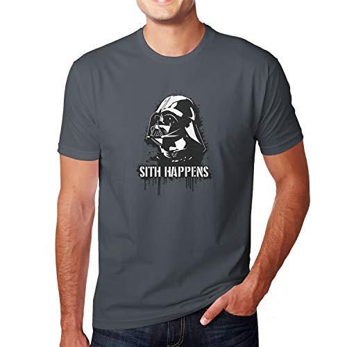 Planet Nerd Sith Happens - Herren T-Shirt, Größe XXL, grau