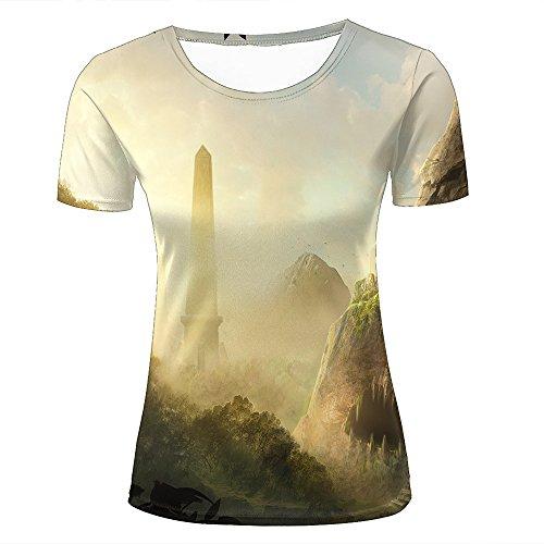 qianyishop Mens Womens 3d Print T Shirtsforgotten city Graphic Fashion Couple Tees Top Short Sleeve C