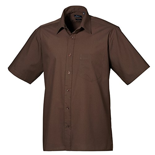 Premier Short sleeve poplin shirt Brown