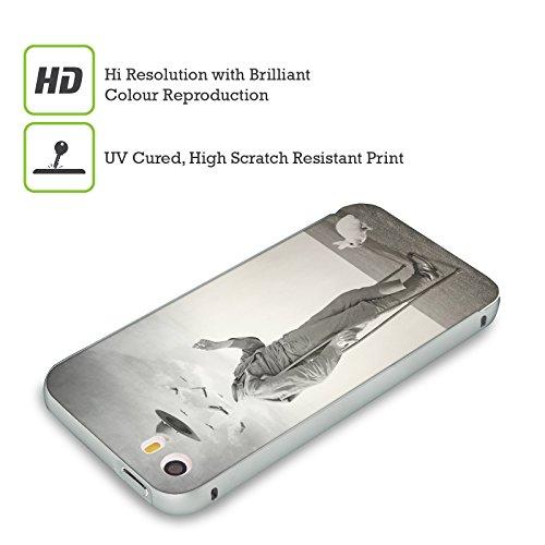 Ufficiale Lacabezaenlasnubes Tuffo Nel Cielo Surreale Argento Cover Contorno con Bumper in Alluminio per Apple iPhone 5 / 5s / SE Soldato
