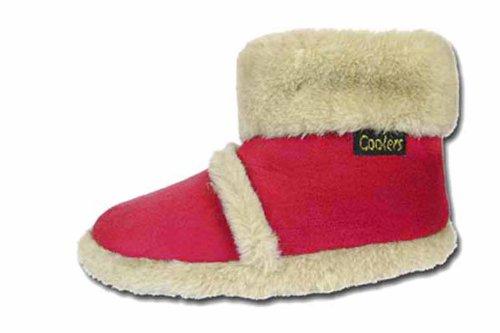 Mädchen Jungen Kinder Kühler Marke Microvelours flauschig Slipper Stiefel K200 Rot