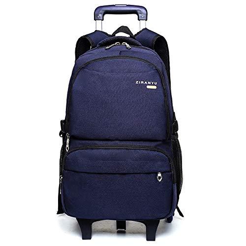 CWTCHZ Schulreisetrolley mit Rädern Großraum-Kinderrucksack mit Trolley Jungen-Schultasche Kinderrucksack auf Rädern (Tier-rucksack Mit Rädern)