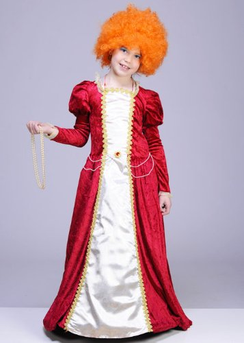 Kinder Größe Red Queen Elizabeth I Kostüm Small (3-5yrs)