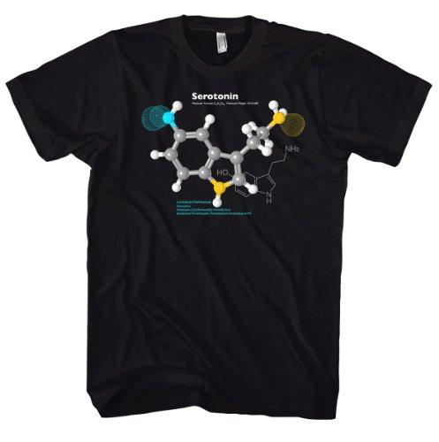 Geek Serotonin Molecule Science - Physics - Nerd inspired 701032 Herren T-Shirt Schwarz
