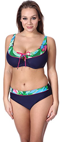 Merry Style Damen Bikini Set P62981MC Navy/Blumen