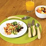 Caring Cutlery Easy Grip Contoured Built Up Thick Handled Cutlery - Black Fork