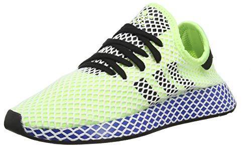 adidas DEERUPT Runner, Scarpe da Ginnastica Uomo, Giallo Hi/RES Yellow/Core Black/Ftwr White, 42 EU