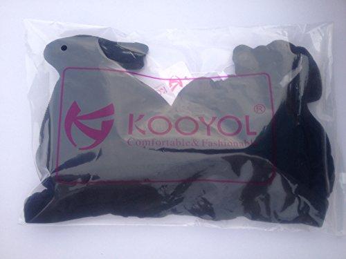 KOOYOL Femme Cotton Soutien-Gorge de Maternite d'allaitement pour/ Sommeil Noir
