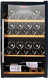 CAVISS Cave à vin de Service - 1 Temp. - 30 Bouteilles - Noir ACI-CVS130 - Pose Libre