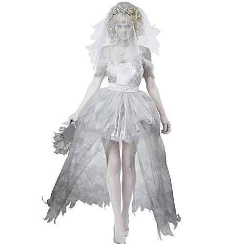 Frauen Fancy Kleid Halloween-Kostüm Leiche Braut Rollenspiel Outfit Zombies Brautschleier Erwachsenen Kleid Prinzessin Cosplay Outfit