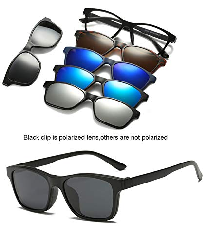 gklglg Sonnenbrillen Brillen Clip Mirrored Clip On Sonnenbrillen Brillen Clip On Glasses Men Polarized Clips Custom Prescription Myopia 2246A