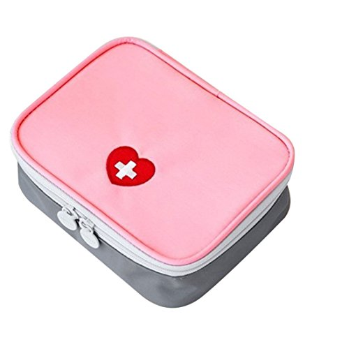 Erste Hilfe Set,Lifesport Erste-Hilfe-Koffer First Aid Kit Notfalltasche Medizinisch Tasche Wasserdicht Tragbar Perfekt Design für Haus Auto Camping Jagd Reisen Natur und Sport (Rosa)