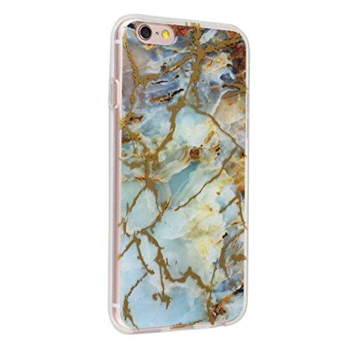 iPhone 6S Plus Arrière Etui, Coque iPhone 6 Plus Silicone, Coque iPhone 6 Plus Doux TPU, Moon mood® Ultra Mince Portable Transparent Couverture pour Apple iPhone 6S Plus 5.5 pouces Case Cover Coque de Marbre-2