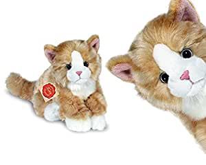 ginger and white cat plush soft toy by teddy hermann. Black Bedroom Furniture Sets. Home Design Ideas