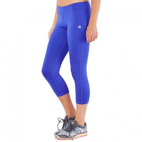 Adidas Damen ClimaLite 3/4Tights Gr. xl, blau (Taille Elastische Adidas Shorts)
