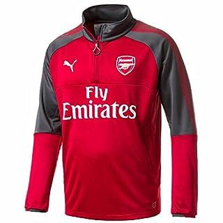 Puma 2017-2018 Arsenal Half Zip Training Top (Chilli Pepper)