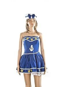 Carnaval, Women's Costume Sailor Girl 2, Medium, Blue