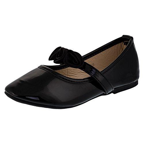 Festlich schöne Mädchen Schuhe in 3 Farben (30, #147sw Schwarz)