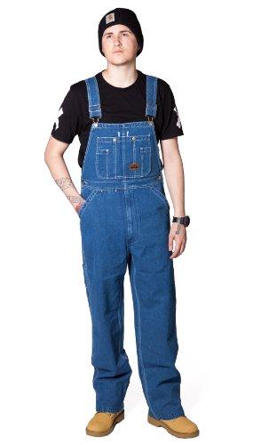 Smith Baumwoll-overalls (Big Smith Latzhose Stonewashed Denim overalls jeans-latzhosen männer B94028)