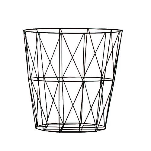 BB.er Schmiedeeisen Ablagekorb nordischen Stil behindern Metall Industrie Kleidung Aufbewahrungsbox Bad Korb, 35 × 33 × 25cm