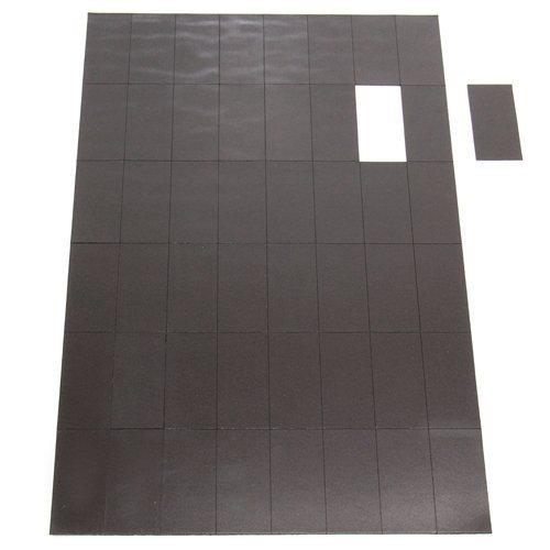 first4magnets 50 x 24 x 0.7mm Self Adhesive Flexible Magnetic Rectangles (48 per Sheet) Test