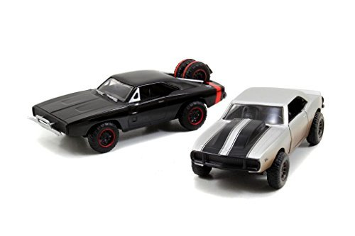 70 Twin Pack (Jada Toys Fast & Furious 1:32 Twin Pack - '67 Chevy Camaro Off Road, '70 Dodge R/T Off Road, Silver/Black by Jada)