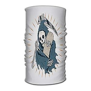 Kkyoxdiy Men & Women Bandana Face Sun Mask Skateboard Grim Reaper Uv Protection Magic Scarf