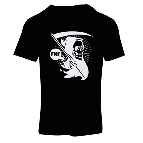Frauen T-Shirt Tod (Medium Schwarz (In Kostüme Minute Halloween Letzter)