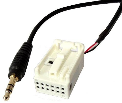 AERZETIX: Adaptador cable AUX con jack 3.5mm para autoradio RCD210 RCD310 RCD510 de coche, vehiculos