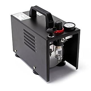 Airbrush Kompressor AF18A kompakt mit Manometer Druckminderer Abschaltautomatik