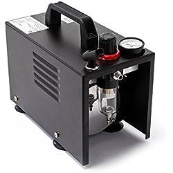 Airbrush Kompressor AF18B kompakt mit Manometer Druckminderer Abschaltautomatik