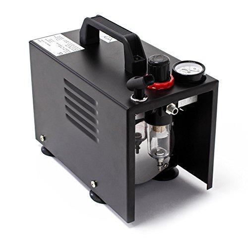 Airbrush Kompressor AF18A kompakt mit Manometer Druckminderer Abschaltautomatik -
