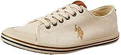 US Polo Association Mens Beige Boat Shoes - 6 UK/India (40 EU)