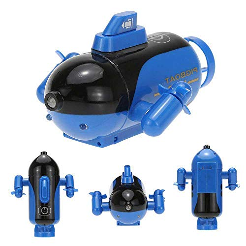 es Boot Mini, RC Unterseeboot Für Kinder, Wiederaufladbar wasserdichte Led-Licht Beleuchten Elektrische Spielzeuge Geschenk ()