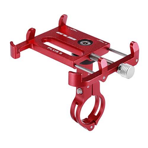 ETbotu Fahrrad Handy Halterung,MTB Rack Motorrad Aluminiumlegierung Ständer rot (Elektronische Geräte-rack)