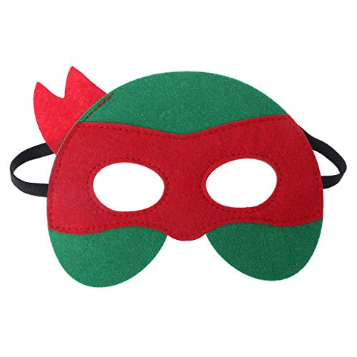 SLYlive Halloween Kind Ninja Turtle Filz Maske Augenmaske - rot