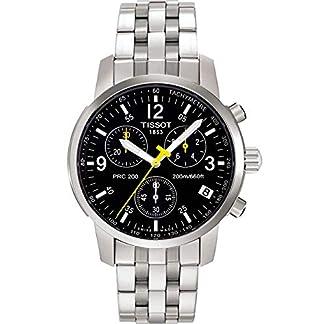 Tissot PRC 200 T1 – Reloj de Caballero de Cuarzo, Correa de Acero Inoxidable Color Plata