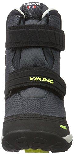 Viking Hagl, Bottes courtes mixte enfant Gris - Grau (Charcoal/Lime 7788)