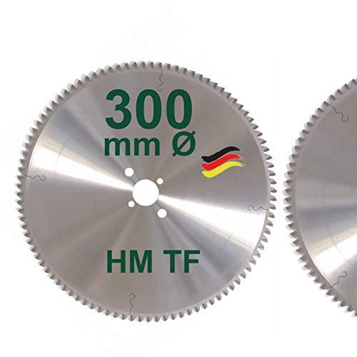 HM Sägeblatt 300 x 30 mm Zähne 96 TF Kreissägeblatt Hartmetall 300mm Ersatzsägeblatt Trapez Flachzahn mit Spanabweiser Handkreissäge Kreissäge