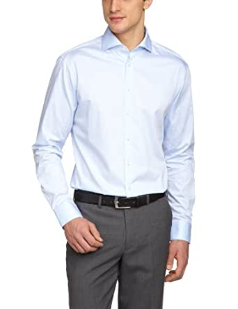 Jacques Britt Herren Businesshemd 20.950510-11, Gr. 39 (M), Blau (Uni hellblau)