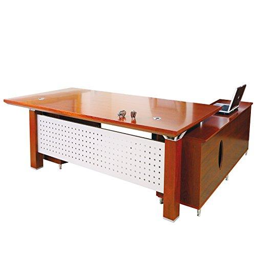 Chef Schreibtisch Birmingham links Büromöbel aus Echtholz in Kirschbaum von Jet-Line (Chef Büromöbel)